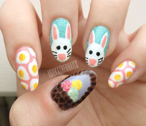 15-Easter-Bunny-Nails-Art-Designs-Ideas-2018-3