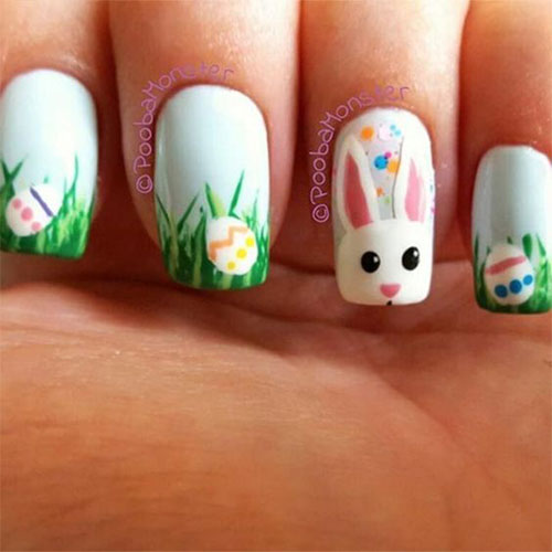 Easy Easter Nail Art: 18+ Simple & Easy Easter Nails Art Designs & Ideas 2018