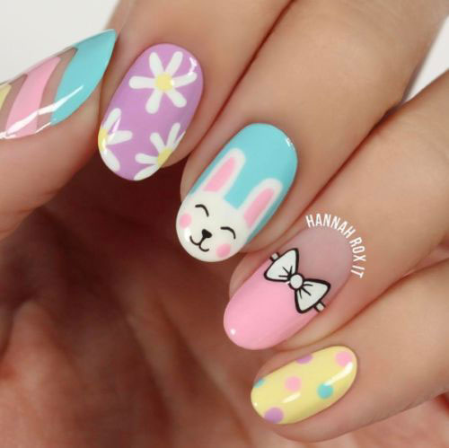 18+ Simple & Easy Easter Nails Art Designs & Ideas 2018