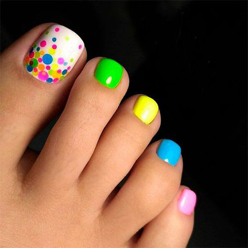 Easter Toe Nail Art Designs & Ideas 2018