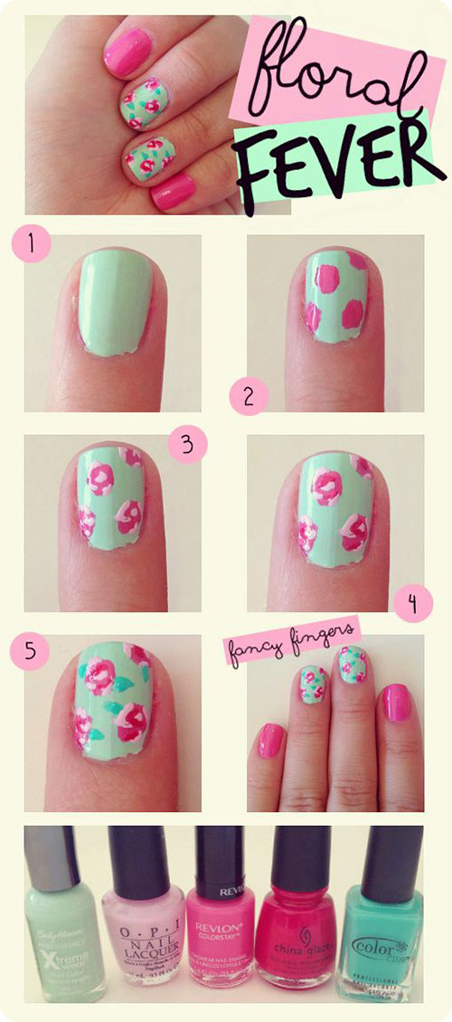 12-Easy-Simple-Spring-Nails-Art-Tutorials-For-Beginners-2018-11