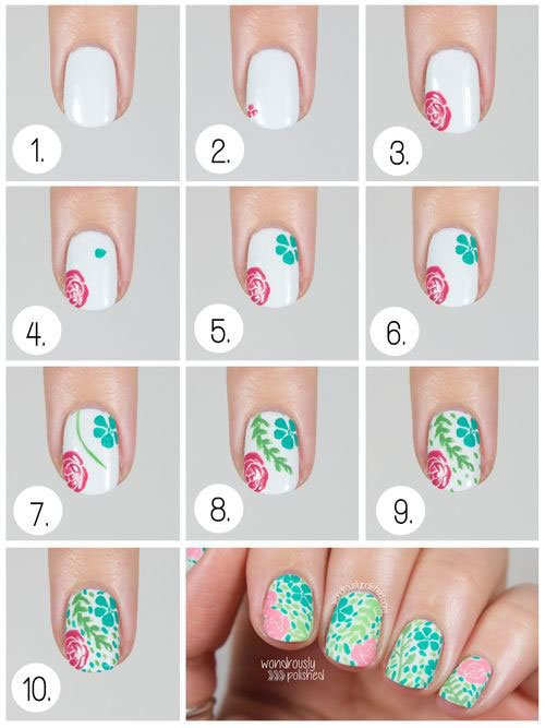 12-Easy-Simple-Spring-Nails-Art-Tutorials-For-Beginners-2018-12