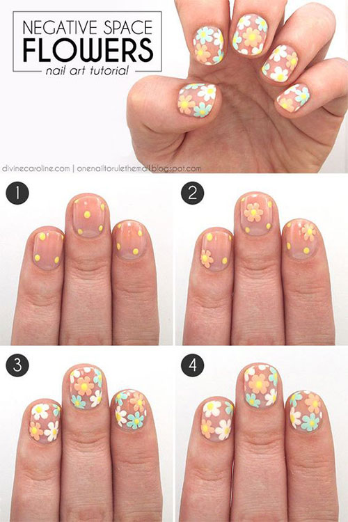 12 Easy Simple Spring Nails Art Tutorials For Beginners 2018
