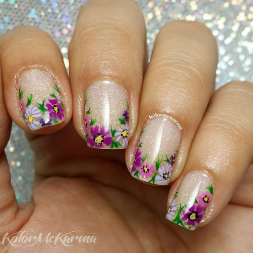 18+ Simple & Easy Spring Nails Art Designs & Ideas 2018