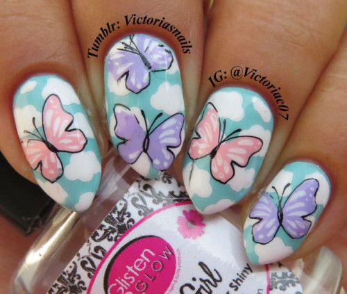 20-Spring-Floral-Nails-Art-Designs-&-Ideas-2018-8