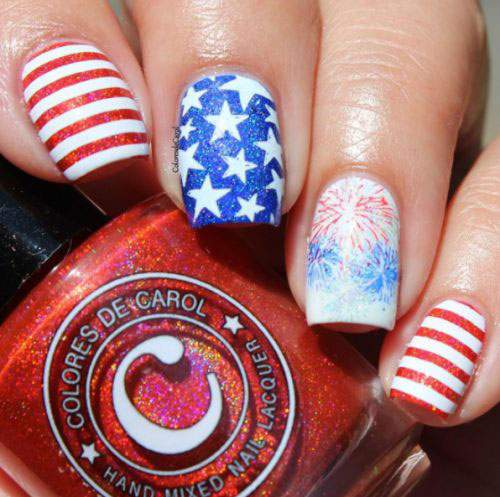 15 American Flag Nail Art Designs Ideas 2018 4th Of July Nails