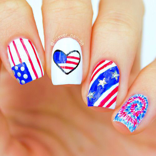 15-American-Flag-Nail-Art-Designs-Ideas-2018-4th-of-July-Nails-6