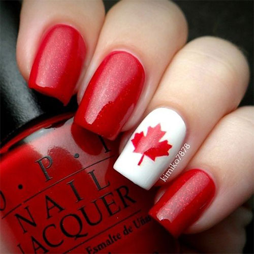 15-Canada-Flag-Nails-Art-Designs-&-Ideas-2018-1