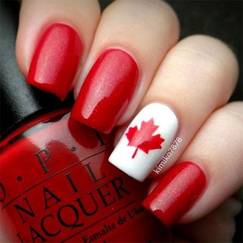 15-Canada-Flag-Nails-Art-Designs-&-Ideas-2018-1