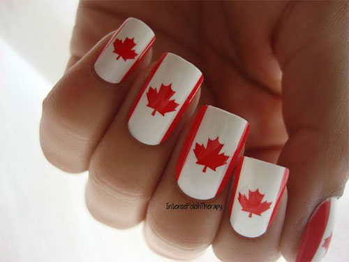 15-Canada-Flag-Nails-Art-Designs-&-Ideas-2018-10