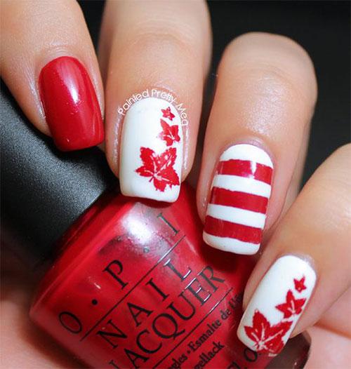 15-Canada-Flag-Nails-Art-Designs-&-Ideas-2018-11