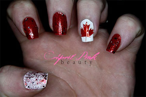 15-Canada-Flag-Nails-Art-Designs-&-Ideas-2018-12