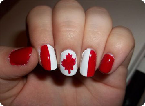 15-Canada-Flag-Nails-Art-Designs-&-Ideas-2018-15