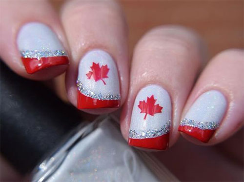 15-Canada-Flag-Nails-Art-Designs-&-Ideas-2018-2