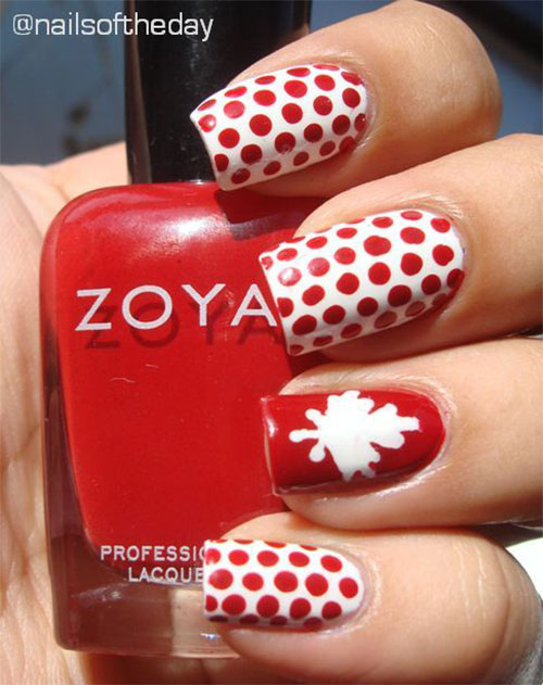15-Canada-Flag-Nails-Art-Designs-&-Ideas-2018-4