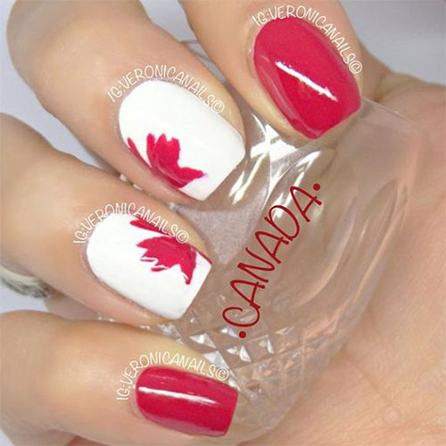 15-Canada-Flag-Nails-Art-Designs-&-Ideas-2018-5