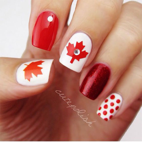 15-Canada-Flag-Nails-Art-Designs-&-Ideas-2018-7