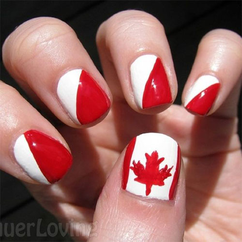 15-Canada-Flag-Nails-Art-Designs-&-Ideas-2018-8