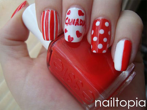 15-Canada-Flag-Nails-Art-Designs-&-Ideas-2018-9