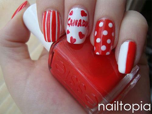 15-Canada-Flag-Nails-Art-Designs-&-Ideas-2018-9