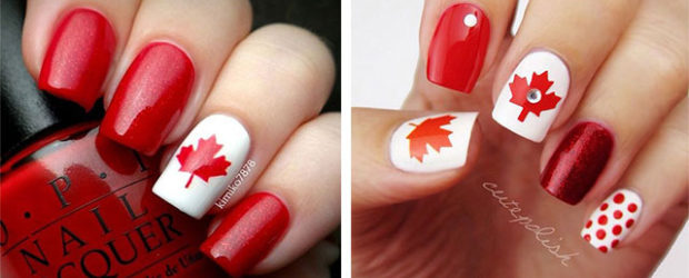 15-Canada-Flag-Nails-Art-Designs-&-Ideas-2018-F