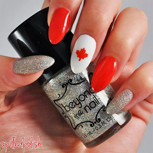 18-Canada-Day-Nails-Art-Designs-Ideas-2018-10