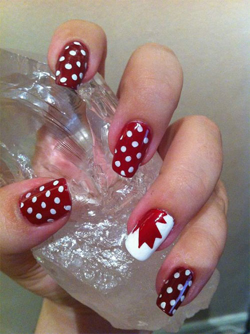 18-Canada-Day-Nails-Art-Designs-Ideas-2018-11