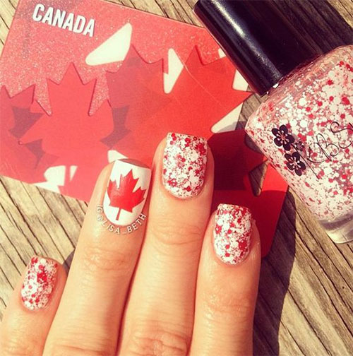 18-Canada-Day-Nails-Art-Designs-Ideas-2018-13