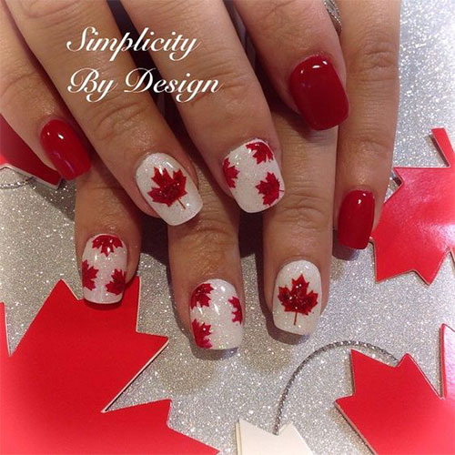 18-Canada-Day-Nails-Art-Designs-Ideas-2018-17