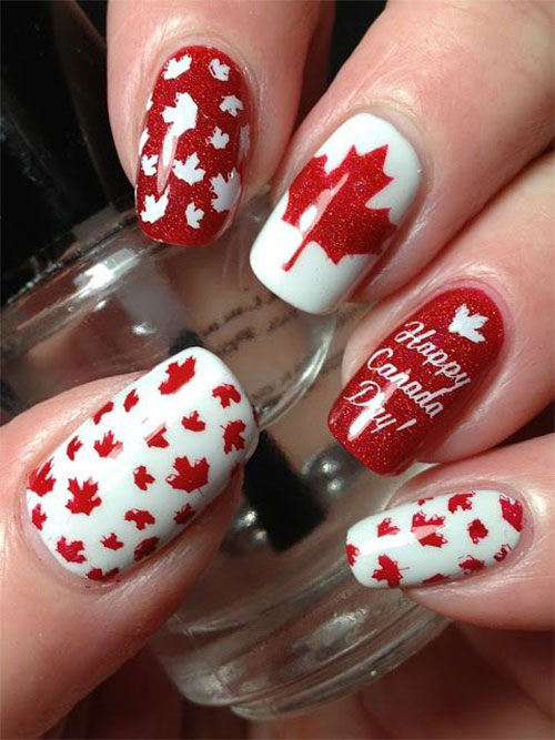 18-Canada-Day-Nails-Art-Designs-Ideas-2018-2