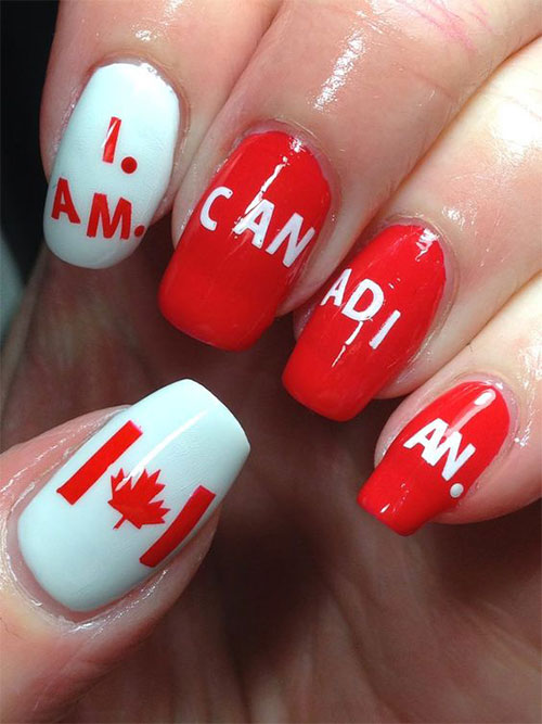 18-Canada-Day-Nails-Art-Designs-Ideas-2018-5