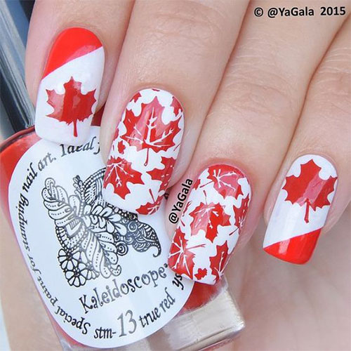 18-Canada-Day-Nails-Art-Designs-Ideas-2018-6