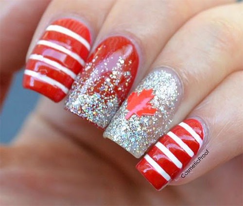 18-Canada-Day-Nails-Art-Designs-Ideas-2018-7