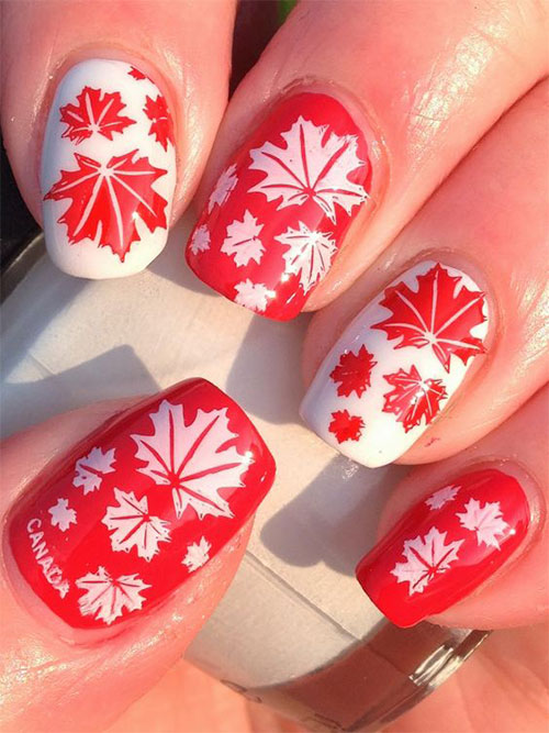 18-Canada-Day-Nails-Art-Designs-Ideas-2018-9