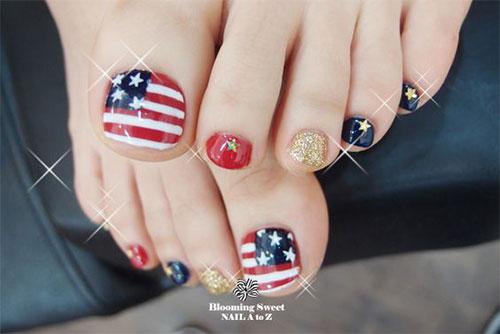 4th Of July Toe Nails Art Designs Ideas 2018 Fabulous Nail Art
