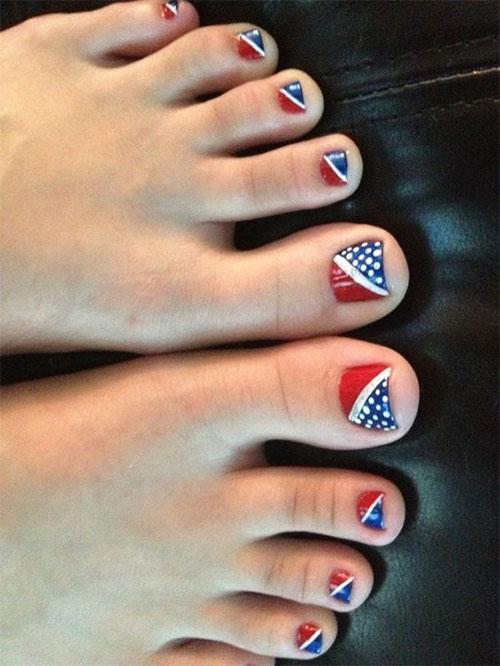 4th of July Toe Nails Art Designs & Ideas 2018 | Fabulous Nail Art ...