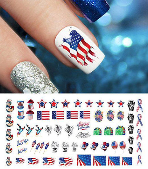 Awesome-4th-of-July-Nails-Art-Stickers-&-Decals-2018-4