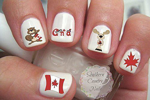 Canada-Day-Nails-Stickers-Decals-2018-1