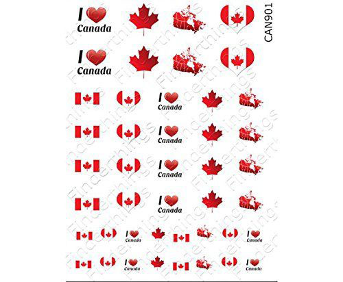Canada-Day-Nails-Stickers-Decals-2018-2