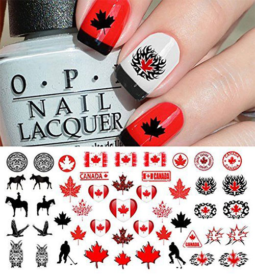 Canada-Day-Nails-Stickers-Decals-2018-3