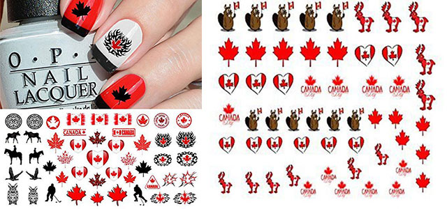 Canada-Day-Nails-Stickers-Decals-2018-F