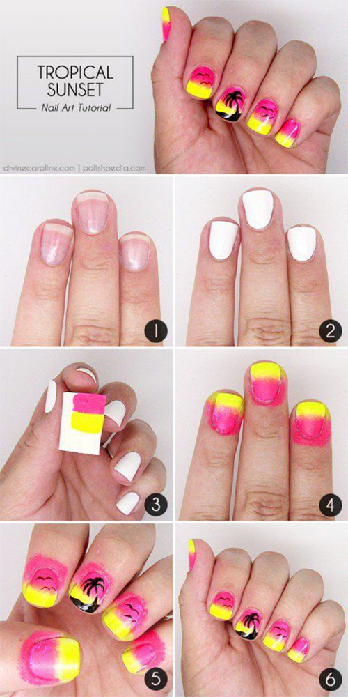 10-Easy-Summer-Nail-Art-Tutorials-For-Beginners-2018-5
