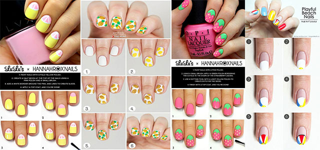 10-Easy-Summer-Nail-Art-Tutorials-For-Beginners-2018-F