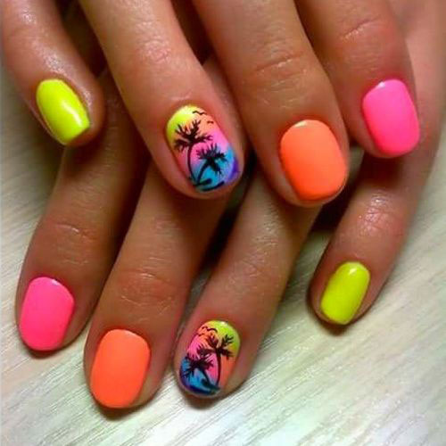 10-Neon-Summer-Nails-Art-Designs-Ideas-2018-9