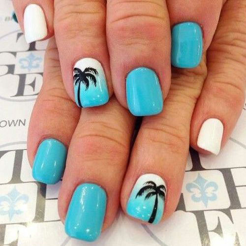 15 Cool Nail Art Designs: 15+ Simple & Easy Summer Nails Art Designs & Ideas 2018
