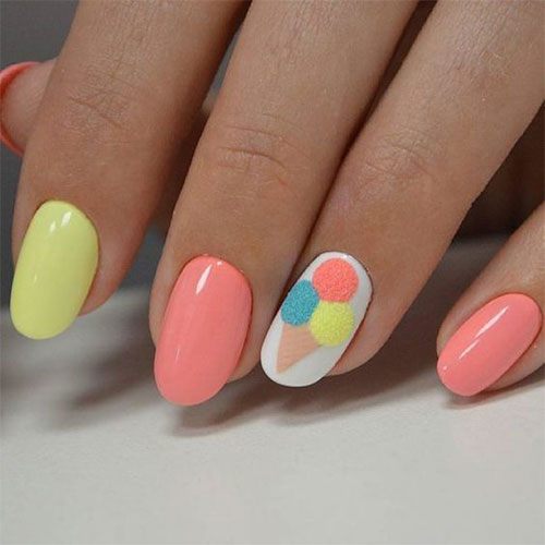 Nail Art Simple Designs: 15+ Simple & Easy Summer Nails Art Designs & Ideas 2018