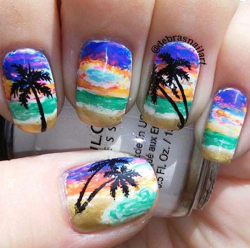 Summer Beach Nails Art Designs & Ideas 2018