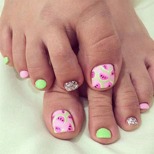 Summer Toe Nails Art Designs & Ideas 2018