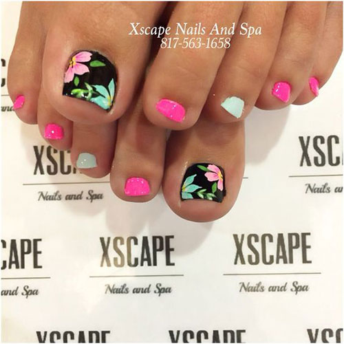 Foot Nail Art Design: Summer Toe Nails Art Designs & Ideas 2018