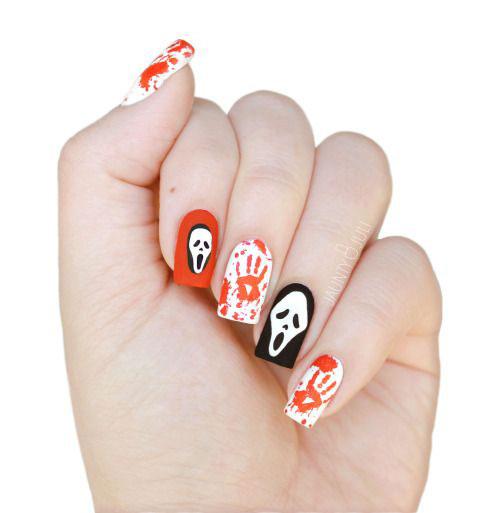 10-Black-White-Red-Halloween-Nails-Art-Designs-Ideas-2018-1